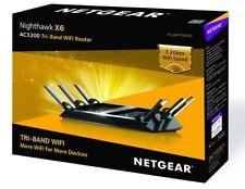 NETGEAR Nighthawk X6 Smart Tri-Band WiFi Router R8000 AC3200 AC Gigabit NEW