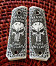 Colt 1911 custom engraved ivory scrimshaw grips scroll Skull Para Bellum