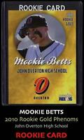 (5) -2010 GOLD MOOKIE BETTS HIGH SCHOOL VERY FIRST ROOKIE CARD NM-MT RED SOX!