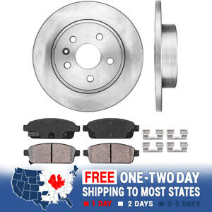 Rear Brake Rotors And Ceramic Pads For Chevy Cruze Sonic Trax Buick Encore