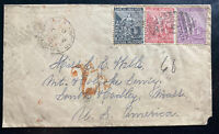 1884 Cape Of Good Hope Cover To South Harley MA USA