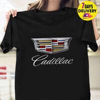 Cadillac Big Logo Print T Shirt Black Size S-3XL