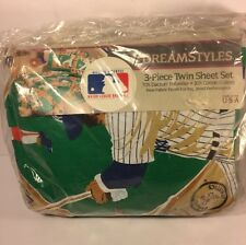 NEW Vintage MLB Dreamstyles 3 Piece Twin  Bed Sheet Set Baseball 1994 Children