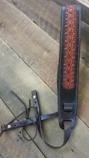 Genuine Leather Regal Diamond Pattern Banjo/Dobro Strap