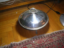 VINTAGE SILVERPLATE  3 LEGGED SERVING  DISH WITH LID