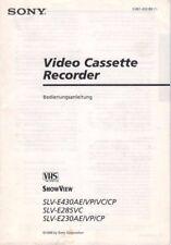 SONY - SLV-E430AE/VP/VS/CP - Bedienungsanleitung für Videorecorder - B3776
