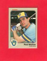 1983 Fleer baseball #40  PAUL MOLITOR  Milwaukee Brewers Hall of Fame