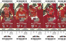 2014 Arizona Diamondbacks Season Ticket Stubs - Mint Condition! Free Ship!