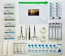 Surgical Suture Kit Minor Surgery Laceration First Aid Travel Kit - 47 Pieces