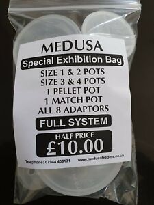 Medusa Pole Pots 6 Different size Cups and 8 Different Size Adaptors FULL SYSTEM