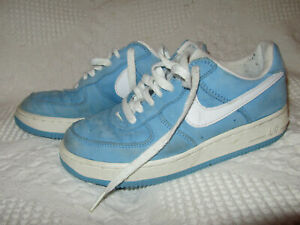 1998 Vintage Blue White Suede Nike Air Force One 1 Sz 4.5 Shoes