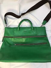 Matt And Nat Vegan Leather Travel Bag Shoulder Strap Green Large