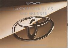 Toyota Landcruiser II, VX y 4 Runner Original 1995 fábrica Reino Unido Folleto de ventas