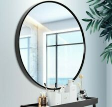Hanging Round Wall Bathroom Bedroom Hall Mirror with Shelf Nordic Home