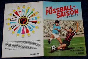 Sicker Album Die Fußball-Saison 1965/66 Bundesliga, International, fast komplett