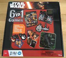 Star Wars 6 in 1 Games Family Board Game - Bingo, Dominoes, Etc.
