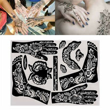 1 PCS India Henna Template Temporary Tattoo Stencils Kit for Hand Body Art Decal
