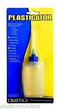 Craftics 2-oz Plastic Solvent Glue Bottle Plasticator with 25-gauge metal needle