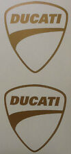 Ducati, GOLD Logo Tank, Helmet Decal, Set of 2