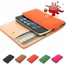 Iphone 4 5 Samsung I9300 Card Synthetic leather Bag Cover Protector Pouch Case