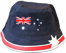AUSTRALIAN FLAG ADULT'S/WOMEN'S/MEN'S BUCKET HAT (HEADWEAR) - BLUE, RED & WHITE