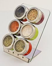 Zoie + Chloe Magnetic Spice Set Rack, Seasonings Containers and Condiments Set