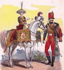 Timballier Chasseur à Cheval Vieille Garde Napoléon Bonaparte Jeune Garde 1850