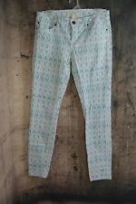 New LIFE IN PROGRESS Ladies 29 Jeans Stretch Skinny Ankle Blue White B2