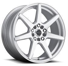 17x7.5 Raceline 131S-Evo 5x108/5x114.3 ET20 Silver Machined Wheels (Set of 4)