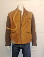 Hugo Boss Journey 100% Lamb Leather Shearling With Wool Sleeves casual Jacket