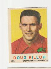 1959 Topps CFL Doug Killoh # 84 Saskatchewan Roughriders VG