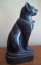 Egyptian Cat mau bastet Black cobra Figurine egypt art Statuette sculpture gift