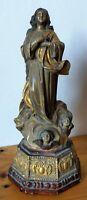 Vierge de l'assomption dans le style du 17ème siècle 34 cm