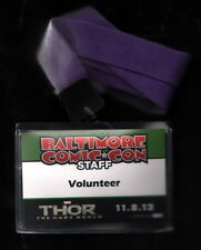 2013 Baltimore Comic Con Staff / Volunteer Badge Thor The Dark World