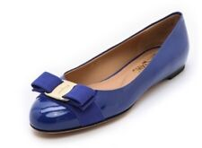 Salvatore Ferragamo Varina Patent Ballet Flat - Cobalt Blue - Size 6B - As New