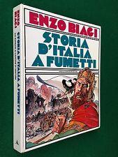 Enzo BIAGI - STORIA D'ITALIA A FUMETTI , 1° Ed Mondadori (1978) ill. Milo Manara