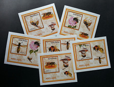 Guinea Bissau Honey Bees 2010 Insect Flower (miniature sheet) MNH
