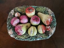 Antique 19th c. English Staffordshire Pearlware Fruit Basket Paper Weight Pears