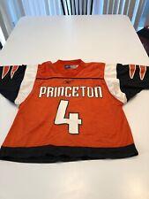 Game Worn Used Princeton Tigers Lacrosse LAX Jersey Size XL Reebok #4