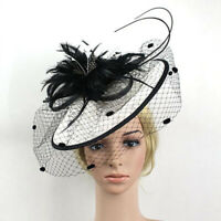 Cocktail Hat Wedding Floral Fascinator Sinamay Feather Kentucky Church Derby