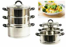 Neuf 3 niveau 24 cm Steamer Set Légumes Aliments Vapeur Pot Set couvercle en ver...