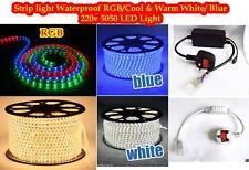 New LED Strip AC 220V 240V IP67 Waterproof Rope Light Blue White Warm White RGB