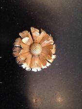 """Primex Brooch Pin Vintage Designer Signed Gold Tone Flower 1.5"""""""