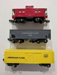 American Flyer Lot of 3 Waggons