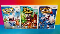 Rayman Raving Rabbids 1, 2, Travel in Time -  Nintendo Wii / Wii U Game Lot