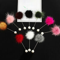Women Simulated Pearl Brooch Pin Ball Lapel Brooch Jewelry Gift Accessories