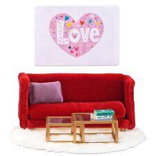 LUNDBY™ 60.2081 Wohnzimmer Möbel in rot für Puppenhaus 1:18