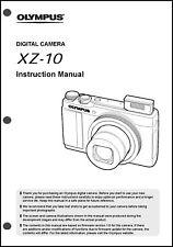 Olympus XZ-10  Digital Camera User Guide Instruction  Manual
