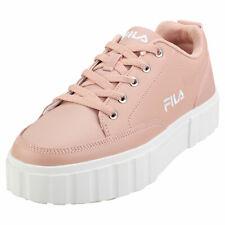 Fila Sandblast Low Womens Rose Leather & Synthetic Flatform Trainers