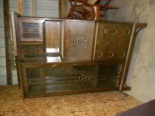 Oak Mission style side by side bookcase
